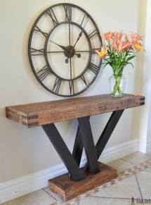 2x4 Console Table - Tool Belt