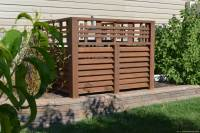 Wood Louver A/C Unit Screen