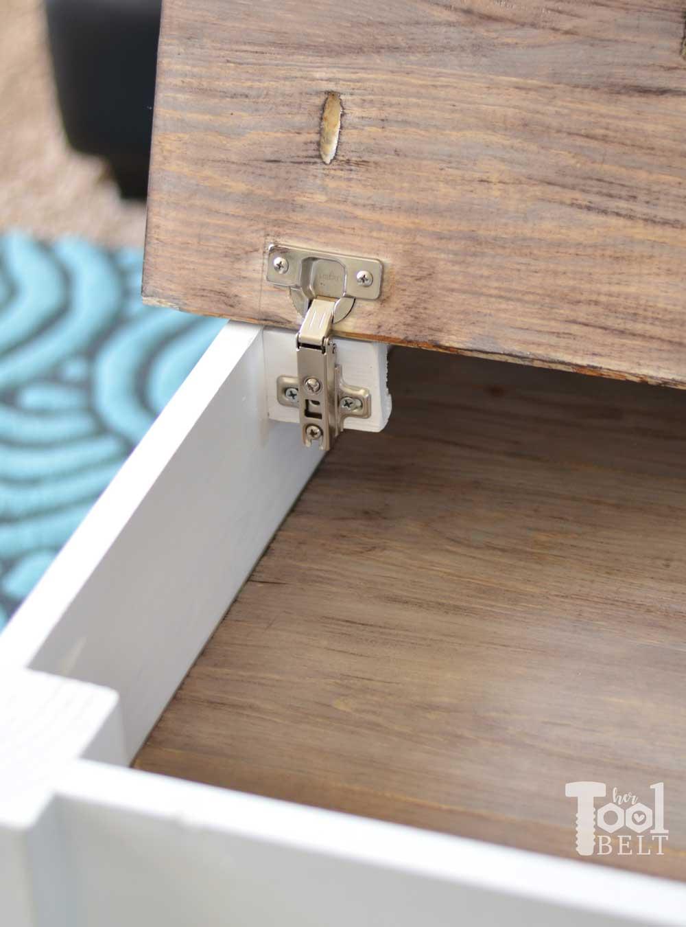 farmhouse coffee table with hidden