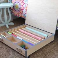Rolling Gift Wrap Organizer