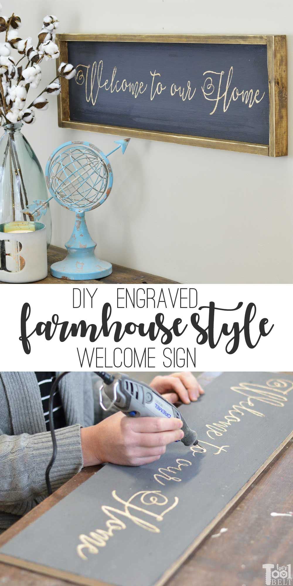 welcome farmhouse sign her
