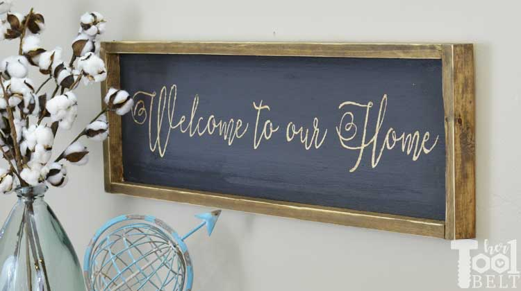 Welcome Farmhouse Sign Her Tool Belt