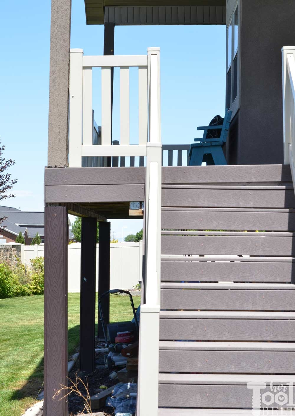 Fix The Sagging Deck Her Tool Belt | Repairing Outdoor Wooden Steps | Staircase | Patio | Concrete Slab | Front Porch | Stringer