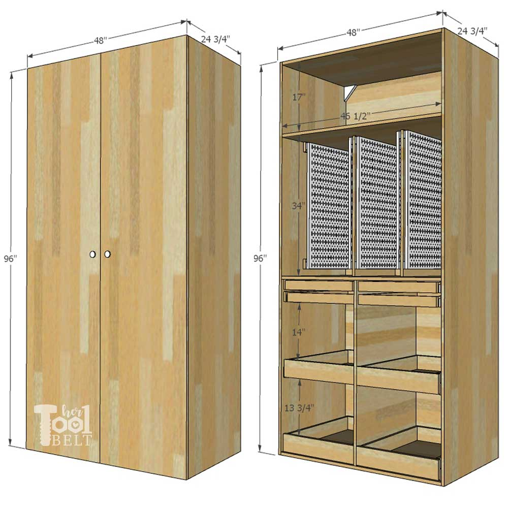 Wooden Tool Storage Cabinet Plans