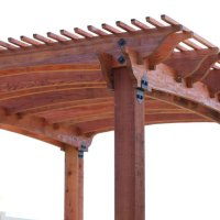 How to Build a Redwood Pergola with Arch Detail