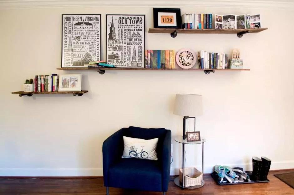 Build Your Own DIY Industrial Floating Shelves - Diy build industrial hanging shelf