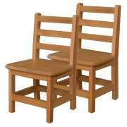 wooden library chair bassett dining chairs furniture seating soft wood ladder back preschool set of 2 12 h