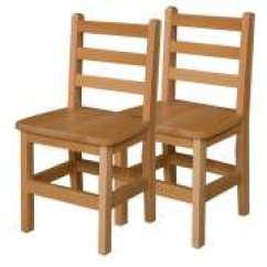 Wooden Chair With Arms For Toddler Zero Gravity Xl Preschool Chairs Cube Wood Ladder Back School Set Of 2 14 H