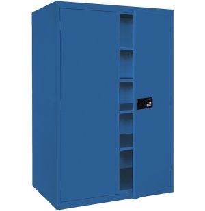 Welded Steel Storage Cabinet wDigital Lock 46x24x72H