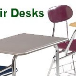 Chair Connected To Desk Stackable Toddler Chairs Student Desks Combo Tablet Arm