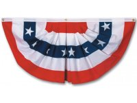 Pleated Full American Fan Flag w/ Stars 3x6', USA & State ...