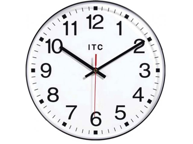Prosaic Classroom Wall Clock 12