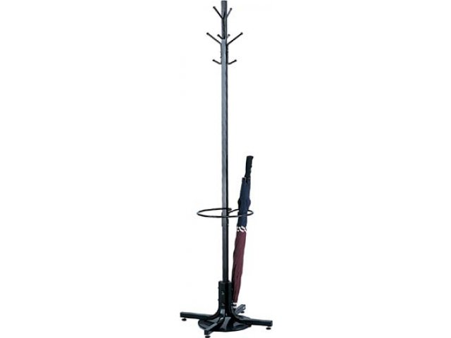 Metal Coat Rack Tree with 8 Hooks and Umbrella Stand CST