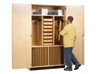 "Drafting Supply and Storage Cabinet 60""W, Art Supply Storage"