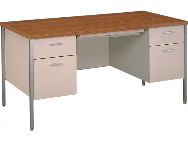 Steel Executive DoublePedestal Teachers Desk 60x30