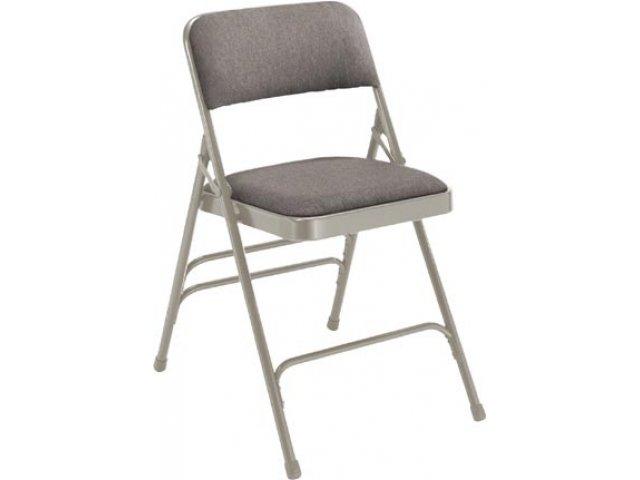 folding chair fabric brown lounge premium upholstered triple brace fhc 2300