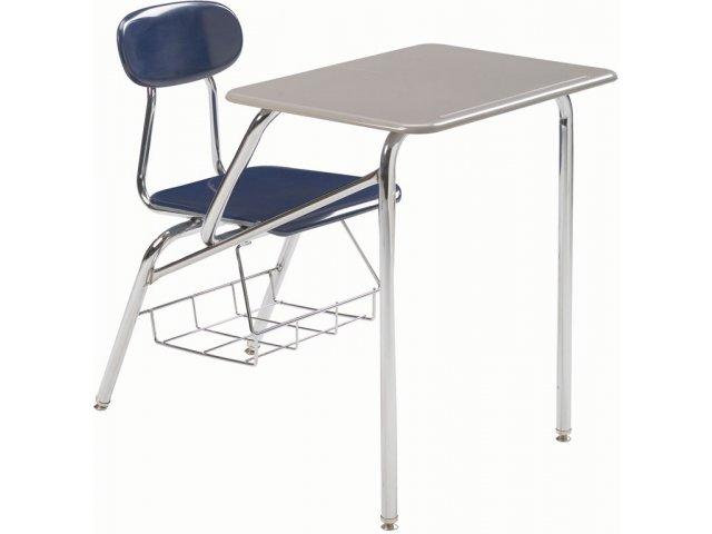 chair connected to desk office floor mats combo student hard plastic top 18 h desks