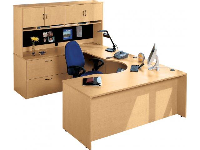 Hyperwork CurvedCorner UShaped Office Desk HPW1100