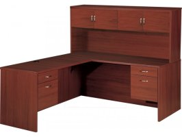 Hyperwork Right L Shaped Office Desk with Hutch HPW 2100R ...