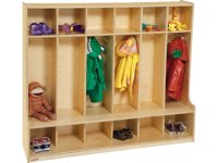 Wood Preschool Locker - 6-Section, Offset Edge PRE-51006D ...