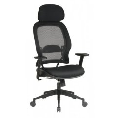 Office Chair With Headrest Diy Lawn Covers Mesh Fabric Air Grid Spc 5543
