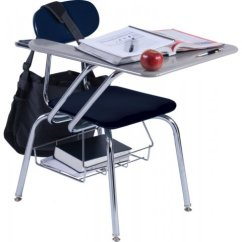 Folding Chair Desk Combo Costco Computer Chairs Hard Plastic Tablet Arm Woodstone Top 19 H Student