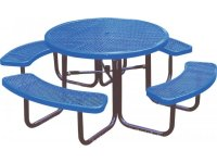 46-Inch Round Picnic Table Diamond Cut Surface UPT-461R ...