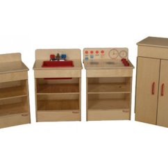 Kitchen Hutch Buffet Cottage Cabinets Wooden Toddler Play Set - 4 Appliances Wde-20000 ...