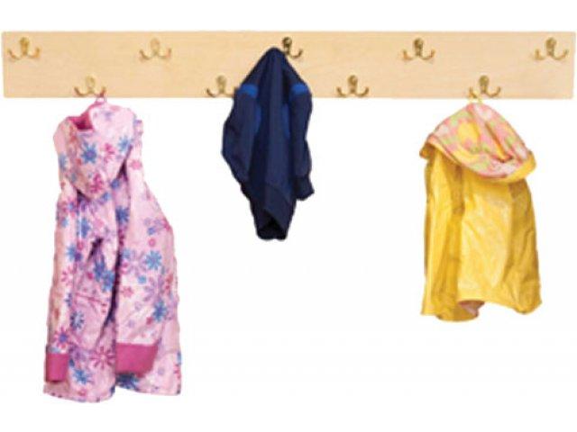wall mounted preschool coat rack
