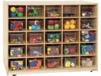 Double-Sided Cubby Storage - 25 Cubbies, 3 Shelves WDE ...
