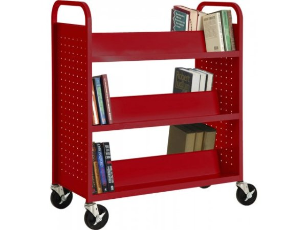 Double Sided SlopedShelf Book Cart WMB181 Book Carts