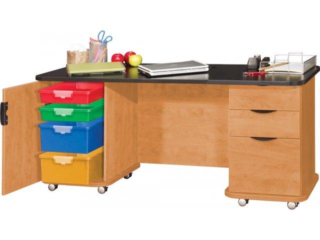 Empowered Innovative Teachers Desk with Power Strip 60x26