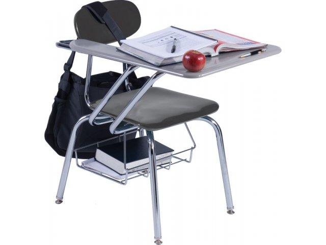 folding chair desk black hanging hard plastic tablet arm woodstone top 18 h student gray hp