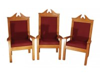 Center Pulpit Chair, Stained TCF-820C, Pulpit Furniture