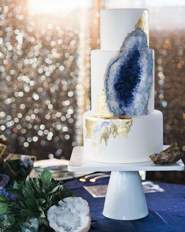 geode wedding cake 2