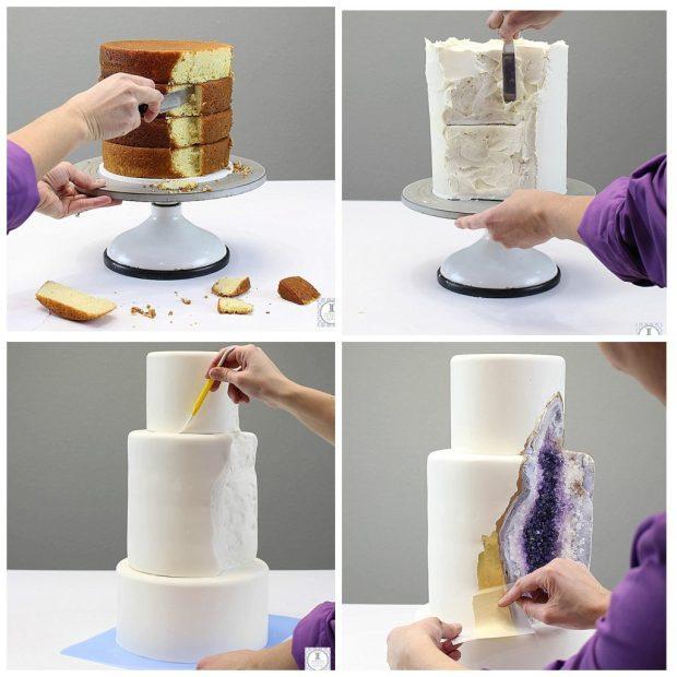 geode wedding cake 3
