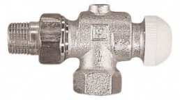 №1 Термостатический клапан ГЕРЦ-TS-90 угловой специальный