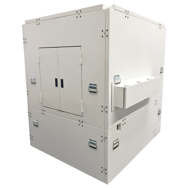 Paneled acoustic enclosures from Herzan frequently protect scanning electron microscopes from disruptive lab noise.