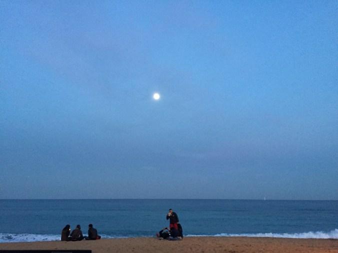 Strand am Abend Barcelona 2015 Johanna Voll