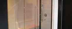Frameless-Shower-Enclosure-with-Header.Pivot-Tulalip-Casino