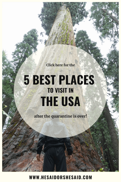 Pinterest 5 best places in the USA