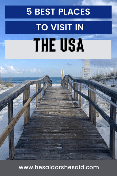 Pinterest 5 best places to visit in the USA