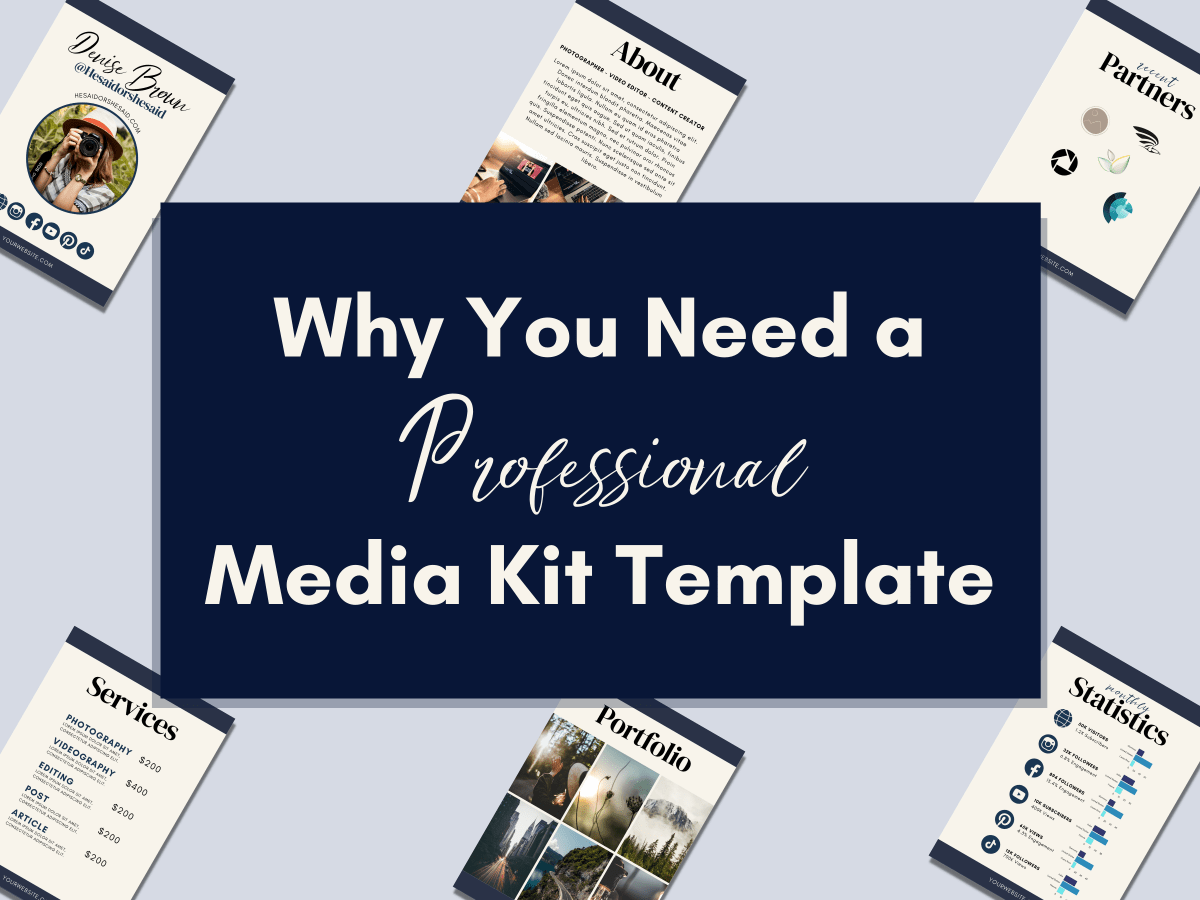 Why You Need a Professional Media Kit Template
