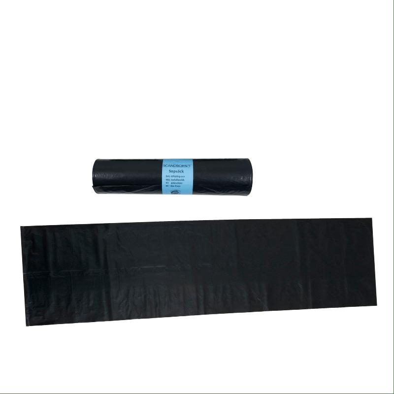 Sopsäck 240L Svart plast 10st / frp