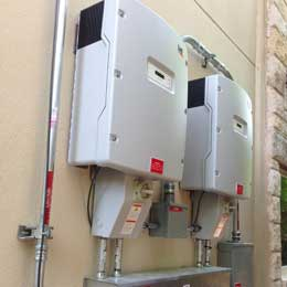 sma solar inverters displaying a portion of the solar panel cost in Austin TX