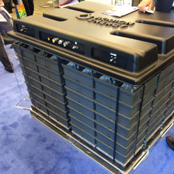Another exciting battery technology. Aquion is made of environmentally friendly chemistry and operates at a traditional 48 volts.