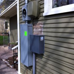 pictures of various electrical service upgrades by HEsoalr