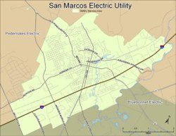 map of the san marcos utility service area