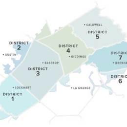 map showing bluebonnet electric coop service area