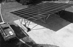 carport made of solar panels